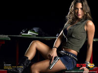 Jill Wagner with gun